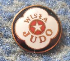 WISLA KRAKOW POLAND JUDO SECTION 1970's RARE ENAMEL PIN BADGE
