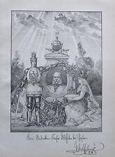 KAISER WILHELM DER GROßE alter Druck aus ca. 1897 print
