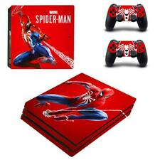 PS4 Pro Console Controller Skin Set Marvel Spider Man Vinyl Decal Stickers Cover