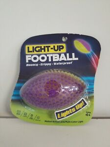 Football Mini Light-Up Bouncy Grippy Waterproof Floats Easy To Grip Ships Free