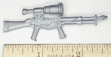 BIN A36 G I JOE Accessory         Silver Rifle Gun with High Power Scope
