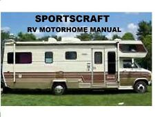 SPORTSCRAFT MOTORHOME OPERATIONS &AC FURNACE MANUALs for Chevy Ford Class C RV