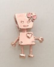 Chapado en Oro Rosa robot Bella Bot Pink Bow Encanto Para Pulseras & Collares