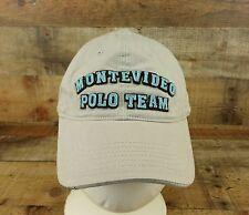Montevideo Polo Hat Cap Santa Barbara Collection 3D Embroidered 5 Adjustable Tan