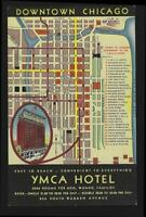 YMCA Chicago, Illinois Lobby Cafeteria Roof Garden Lot of Four Vintage Postcards
