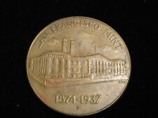 "A Vintage 1874 -1937 San Francisco Mint  ""S""  U.S. Treasury Department Medal"