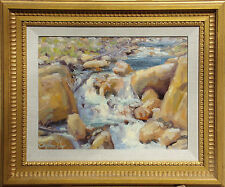 """Stephen Day """"Mountain Stream"""" Hand Signed Original Oil Painting on Board Artwork"""