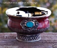 "Small 4"" Ornate Gothic Altar Offering Bowl - Pagan Wicca Witchcraft"
