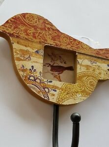 Bird  hook hanger Brown with photo frame
