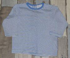 ~ Tee-shirt ML blanc rayé bleu KIMBALOO garçon 9 mois ~ AUR186
