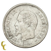 1853-A France 20 Centime (VF) Very Fine Condition