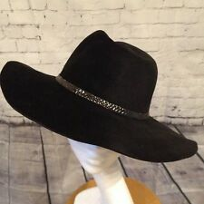 Stunning Designer Helen Kaminski Black Fedora/Cowboy/Trilby Hat