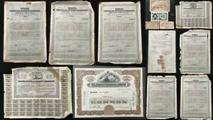 Share Certificates Banknotes Usa Anti Fascist China Mixed Old lot (W1781