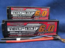 NEU 2 Turnigy nano-tech 6000mAh 2S 7.4v 65C 130C Akku Lipo Pack Hardcase USA