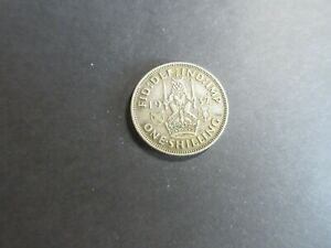 GEORGE VI SILVER SHILLING DATED 1937 - FROM CIRCULATION
