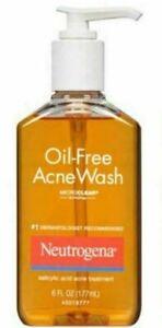NEUTROGENA Oil Free Acne Wash Microclear 6 Fl. Oz EXP 09/21