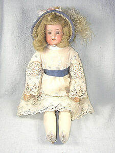 "Antique Heubach Koppelsdorf Bisque Head Dolly Face Doll - 18"" - BLOND"