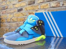 Adidas Roundhouse Men's Grey Blue Green Mid Top Trainers Size UK 8 EU 42.5