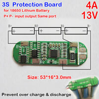 3S 4A 13V 18650 Lithium Battery Charger Protection Board PCB PMS Charging Module