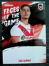 2019 NRL TRADERS 'FACES OF THE GAME' TRADING CARD - ZAC LOMAX/DRAGONS