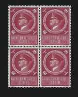 MNH Adolph Hitler stamp BLOCK / 1944 Birthday Third Reich issue / Germany
