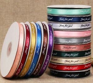 "Satin Ribbon 10mm Printed ""Just for You "" 5Y Sewing Labels Gift Wrapping 1385"