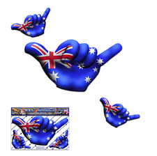 AUSTRALIA FLAG HANG LOOSE Small Funny Surf Car Stickers Decal Pack-ST00055AU_SML