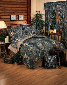 Mossy Oak Camo Sheets Set, Queen King Bedding