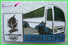 Pin's Jo Jeux Olympique Albertville RENAULT R1 Bus Car transport  #B4