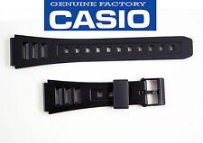 Casio  Watch Band 19mm Black Strap Rubber  W-71 W-71MV  W-86