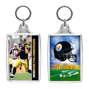 Ben Roethlisberger Pittsburgh Steelers Double Sided NFL Photo Key Chain