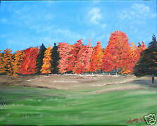 ORIGINAL OIL PAINTING COOL FALL DAY IN MILTON VERMONT