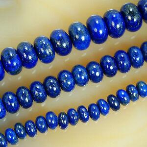 "Natural Indigo Lapis Lazuli Rondelle Beads 15.5"" 3x5mm 4x6mm 5x8mm"