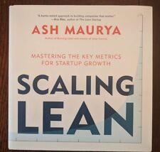 Ampliación lean: Mastering las métricas clave para el crecimiento de inicio-libro de tapa dura