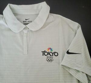 Nike Training Tokyo 2020 Olympics NBC Size XL Women Polo Shirt Short Sleeve Golf