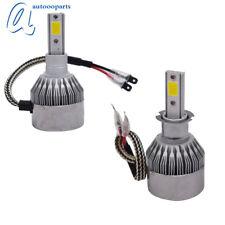 2x H3 3000K Golden Yellow 7600LM High Power LED Fog Light Driving Bulb DRL US
