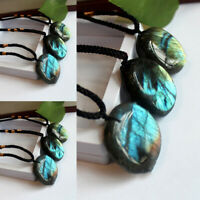 Delicate Natural Labradorite Pendant Crystal Necklace Healing Stone Necklace