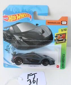 Hot Wheels HW Exotics McLaren P1 Dark Grey Short Card 9/10 FNQHotwheels FJ361
