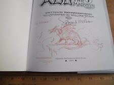 Abu and the 7 Marvels signed w/ Drawing sketch dragon William Stout HBDJ book
