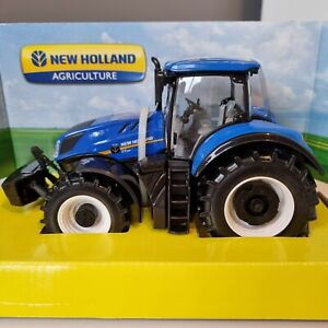 New Holland Tractor T7.315 1:32 Scale Diecast Metal Model Farm Toy by Bburago!