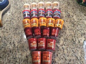 New Lot of 50 Yankee Candle Votives Harvest Hollyberry Home Almond Pumpkin Eve