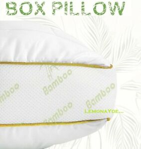 LUXURY ANTI ALLERGY ORGANIC BAMBOO BOX WALL FIBRE BACK & NECK SUPPORT PILLOWS