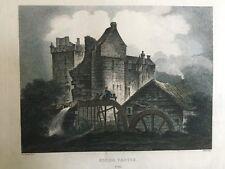 1804 Antique Print; Elcho Castle, near Perth, Scotland after J.C. Nattes