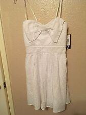 White Eyelet Spaghetti Straps Lined Summer/Beach Dress Juniors 9 NWT