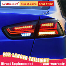 LED Rear Lights Assembly For Mitsubishi LANCER 08-17 Dark / Red LED Tail Lamps