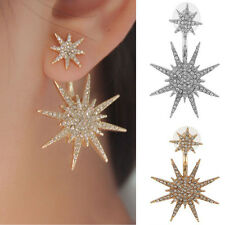1pcs Hot Lady Women Rhinestone Ear Stud Crystal Dangle Earring Star