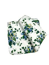 American Pacific Discontinued Full Double Duvet Cover White Green Ivy Floral