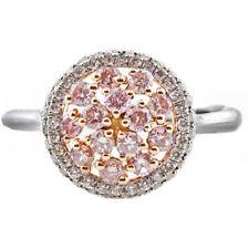 1.05ct Natural Fantasía Rosa Diamantes Anillo de Compromiso 18Ct Oro Macizo