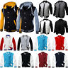 Fashion Men Varsity Jacket College University Letterman Baseball Coat Outfits
