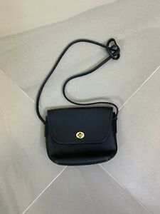 Vintage Coach Glove Tanned Cowhide Leather Small Crossbody Bag Black US Made